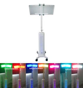Levou lâmpada de fóton levou PDT terapia médica com sete cores levou PDT Bio-luz terapia pele rejuvenescimento da pele branqueamento Spa máquina