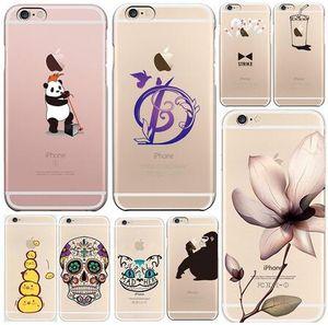 애플 아이폰 6 6s 플러스 5S 5C 로맨틱 아름다운 꽃 동물의 과일 전화 TPU 소프트 실리콘 케이스 iPhone6 커버 쉘