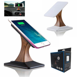 Qi carregamento sem fio Display Stand para iphone X 8 para Samsung Galaxy S8 S7 Nota 8 Rotating Mobile Phone Carregador sem fio Titular