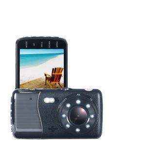 H8 IPS 4-дюймовый автомобильный видеорегистратор камера Двойной объектив с ADAS LDWS полный FHD 1296P автомобиля расстояние предупреждение Dashcam видеорегистратор регистратор
