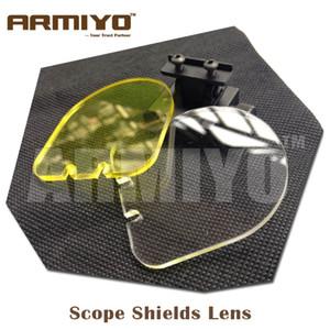 Armiyo Hunting Airsoft BB Bolas Objetivo a prueba de balas Alcance Shields 20mm Montaje en riel Óptica Pistola holográfica Sight 551 552 Shooting Protector