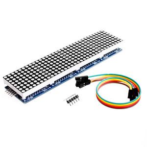 Frete Grátis-Atacado MAX7219 Dot Matrix Módulo Para Arduino Microcontrolador 4 Em Um Display com Linha 5P