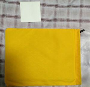 Sacos de embreagem de designer de marca de alta qualidade com bolsa de fronteira de couro com saco de embreagem de bolso do telefone tamanho grande com saco de pó amarelo
