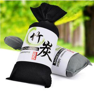 Bolsita de carbón de bambú del coche ambientador de aire del filtro de aire anti - microbiana Desodorante absorbedor de olores bolsa de 100 g de bambú carbón activado en cada bolsa