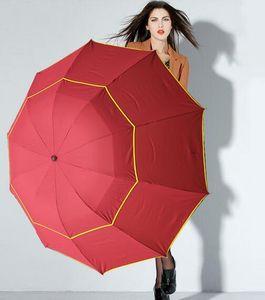 Hot 130 cm Big Top Ombrello da uomo Donna Rain Antivento Grande Paraguas Uomo Donna Sole 3 Floding Big Umbrella Parapluie da esterno