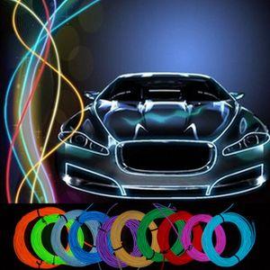 3M Гибкий неон Glow EL Wire Rope Строка Strip Tube Light Dance Party автомобиля костюм + контроллер Декоративные Рождественский праздник свет