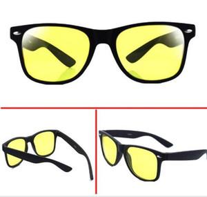 2016 Atacado-2pcs / lot, esporte óculos homens dirigindo óculos de sol amarelo Lense Night Vision Driving Glasses Reduzir Glare Goggles oculos de sol
