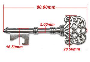 Apribottiglie Bottiglia a forma di chiave Portachiavi in bronzo in bronzo Antique Retro Opener argento / colori rame 4 stili Utili utensili da cucina