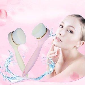 Long-handled Escova de Limpeza Pore Cleansing Cleaner Cravo Instrumento de Lavar o Rosto Ferramenta Para Beleza Facial Escova de Limpeza Rosa Branco 0611015