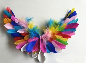 High quality white Feather Angel wings child Model-show style wings Birthday gifts party Halloween performance props Free shipping