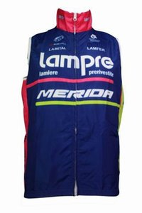 WINDSTOPPER WINDPROOF 2014 LAMPRE MERIDA PRO TEAM BLEU L02 SEULEMENT SANS MANCHES VESTE CYCLING JERSEY TAILLE USURE CYCLABLE: XS-4XL