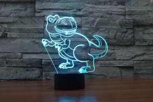 2017 New Dinosaur 3D optique Night Light 9 LED Night Light DC 5V Usine de gros
