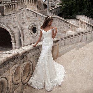 Veste de mariée sexy robe de mariée Sermaid dentelle