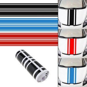 Toptan 183x8 CM PVC Malzeme Şerit Desen Yaratıcı Komik Araba Sticker Aksesuarları Arabalar için Hood CEA_31E