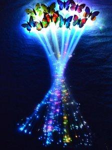 LED flash butterfly fibra treccia party dance illuminata bagliore luminoso estensione dei capelli rave decorazioni di halloween forniture natalizie di favore