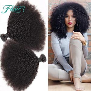Vente chaude 9A Brésilien Crépus Bouclés Cheveux Weave 3Bundles Afro Crépus Bouclés Cheveux double wefted Extensions de Cheveux Humains Pour Femme