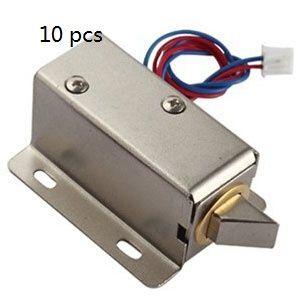 Livraison gratuite 10 pcs Serrure électronique 12V serrures électriques armoire tiroirs serrure petit système de contrôle d'accès serrure électrique mini serrures