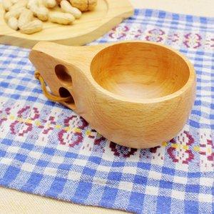 outdoor Wooden cups travel cup Log kuksa outdoor handmade portable cup Outdoor sporting mug water cups