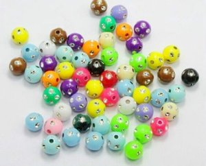 Free 1000Pcs Mixed Acrylic Spacer Beads Charms for Jewelry Making Findings 5mm