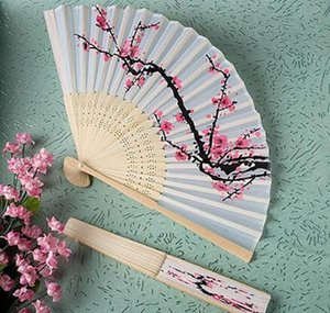 New Arrive Fans Bamboo Folding Hand Dancing Wedding Party Decor Flower Hand Held Fan