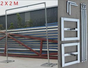 3M * 6M Wedding Drapery Pipe Stand / decoración de la boda marco de tuberías para drape / Stainess Steel Wedding Backdrop Stand