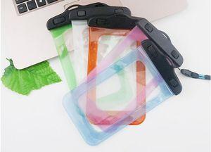 Bolso impermeable de la protección de la protección del teléfono móvil del deporte plástico al aire libre del PVC para el teléfono elegante