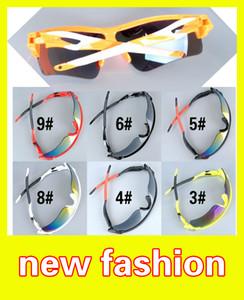 MOQ = 10 été plus récents lunettes de soleil seulement 9 couleurs lunettes de soleil hommes verre vélo lunettes de sport BELLES Dazzle lunettes de couleur A +++ Livraison gratuite