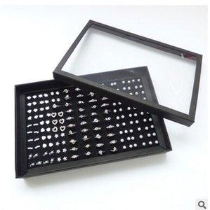 100 слотов размер 30X19X4CM новый стиль ювелирные изделия / ювелирные наборы кольца серьги подвески показывая упаковка дисплей коробка ювелирных изделий стенд