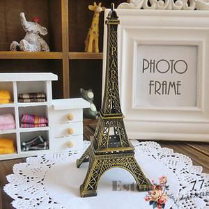 15 см старинные сплава бронзовый тон Париж Эйфелева башня статуэтки статуя модель декор