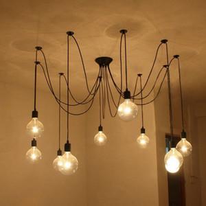 L2-DIY Pendelleuchten Moderne Nordic Retro hängende Lampen Edison-Birne Befestigungen Spinne Deckenleuchte Fixture Licht für Wohnzimmer