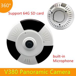 3D VR 960P WiFi CCTV камеры беспроводной Fisheye безопасности камеры наблюдения ночного видения V380 Wi - Fi 3D камеры монитор