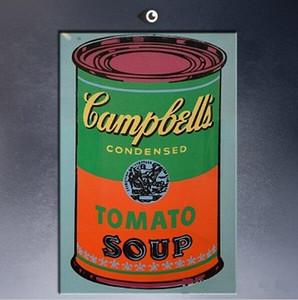 Gerahmte Andy Warhol Campbell Suppe kann 1965-2 Pop-Art, handbemalte moderne Graffiti Pop Wand Kunst Ölgemälde auf Leinwand Multi Größen 070