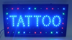 5pcs lot wholesale business 2016 hot sale manufacture 10X19 Inch semi-outdoor Ultra Bright running tattoo nails shop Led sign
