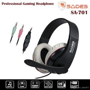 Gaming Headset Cuffie SADES SA701 Over Ear Stereo.5mm Plug HiFi Speaker Auricolare regolabile Headband per CS DOTA2 PC Laptop