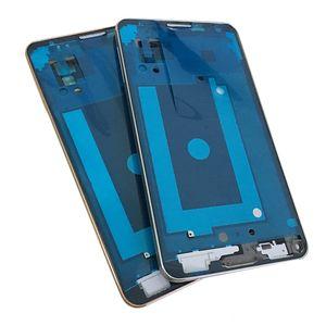 OEM para Samsung Galaxy note3 Note 3 LTE 4G N9005 Pantalla frontal Panel LCD Marco Medio Bisel Carcasa + Botón de inicio Reemplazo de oro plateado