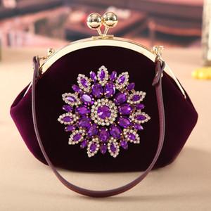 Yeni Moda Düğün Gelin El Çanta Çanta Cheongsam Paket Velvet Messenger Festival Paketi