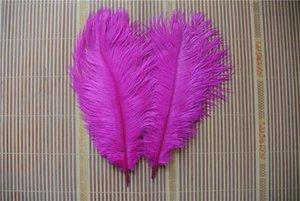 Toptan 100 adet 10-12 inç sıcak pembe fuşya devekuşu tüyü plume düğün merkezinde düğün dekor için olay kaynağı parti kaynağı