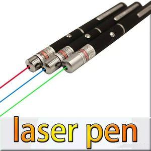 5 mW 532nm 650nm 405nm Yeşil Kırmızı Mavi Işık Lazer Pointer Kalem SOS Avcılık Için Yüksek Öğretim Öğretim OPP ambalaj JBD-P1