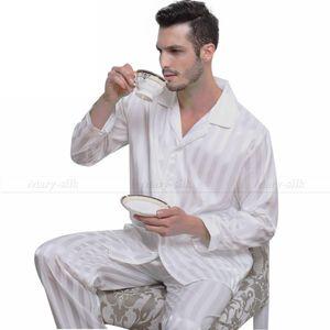 Wholesale-Mens Silk Satin Pajamas Set Pajama Pyjamas PJS Sleepwear Set Loungewear S,M,L,XL,2XL,3XLL,4XL Plus _Free Shipping