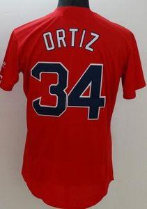 Großhandel 16-17 neue weiße rote Baseball-Trikots, Rabatt Günstige Herren Athletic Outdoor 24 PREIS 34 ORTIZ MARTIN TOP Baseball Wear