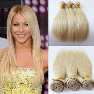 Brésilien Péruvien Malaisien Indien Cheveux Humains 18 22 24 pouces # 613 Cheveux Raides Non Transformés Cheveux Humains faisceaux / trame