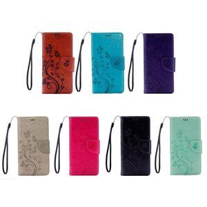 Para Iphone 12 Pro Max 11 XR XS MAX X 8 6 Galaxy S20FE S10 Nota 20 da borboleta carteira de couro caso do cartão ID de Bolso Flor slot Virar Capa Bolsa