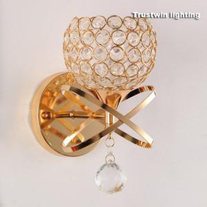 Klasik Vintage Kristal duvar ışık Başucu Gümüş Altın kristal Duvar Lambası 110 V 220 V kristal aplik