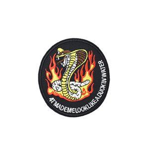 Patchs de serpent 1PCS pour les vêtements de fer-sur le mode patch pour vêtements appliques coudre accessoires autocollants sur les vêtements fer sur patchs bricolage