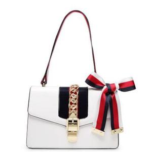2017 neue Hochwertige Mode Frauen Handtaschen Bogen Schmücken Schulter Kette Taschen Tote Pu-leder Handtaschen College Style Party Tasche
