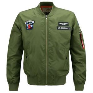 Automne Hiver Hommes Veste Numéro Un Bomber Veste Hommes Manteau De Loisirs Stand Collar Veste Coupe-Vent Plus La Taille M-6XL