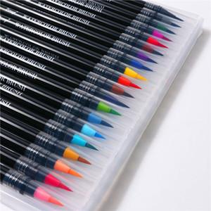 20color Premium pittura della spazzola molle Pen Set Acquarello plastica Marcatori penna migliore effetto Libri da colorare Manga Comic Calligraphy