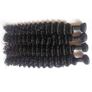 İşlenmemiş Malezyalı insan saçı uzatma Seksi Formula 3 Paketler derin insan Saç Dokuma İyi Saç Uzantıları Wet ve Dalgalı Paketler dalga