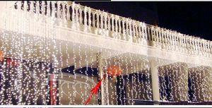 10 M x 3 M 1000LED Perde Işık Açık Noel Dize Peri Işıklar Düğün arka Parti Topu Otel Dekorasyon Gösterir 220 V 110 V