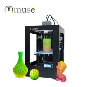 Yeni Tek Meme Heatbed Mix Renkli Baskı FDM Masaüstü 3D Hızlı Prototipleme için Yazıcı Makinesi